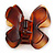 Medium Butterfly Brown Acrylic Hair Claw - 60mm Width - view 8