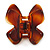 Medium Butterfly Brown Acrylic Hair Claw - 60mm Width - view 6