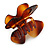 Medium Butterfly Brown Acrylic Hair Claw - 60mm Width - view 5