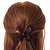 Medium Butterfly Brown Acrylic Hair Claw - 60mm Width - view 3