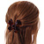 Medium Butterfly Brown Acrylic Hair Claw - 60mm Width - view 4