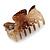 Medium Snake Print Shiny Acrylic Hair Claw/ Clamp (Brown/ Beige) - 6cm Long - view 6