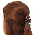 Medium Snake Print Shiny Acrylic Hair Claw/ Clamp (Brown/ Beige) - 6cm Long - view 2