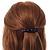 Medium Clear Crystal Acrylic Barrette Hair Clip Grip (Brown) - 75mm Across - view 3
