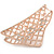 Large Crystal Square Pattern Hair Claw In Rose Gold Plating - 90mm Across - view 4