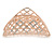 Large Crystal Square Pattern Hair Claw In Rose Gold Plating - 90mm Across - view 5