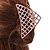 Large Crystal Square Pattern Hair Claw In Rose Gold Plating - 90mm Across - view 3