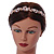 Bridal/ Wedding/ Prom Rose Gold Tone Clear Crystal, White Glass Flowers & Leaves Tiara Headband - view 2