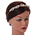 Bridal/ Wedding/ Prom Rose Gold Tone Clear Crystal, White Glass Flowers & Leaves Tiara Headband - view 3