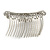 Bridal/ Wedding/ Prom/ Party Rhodium Plated Clear Crystal White Faux Pearl Hair Comb/ Tiara - 95mm - view 4