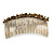 Large Vintage Inspired Clear Austrian Crystal White Glass Pearl Hair Comb In Gold Tone - 11cm - view 6