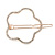 Rose Gold Tone Metal Clear Crystal Open Flower Hair Slide/ Grip - 60mm Across - view 4