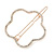 Rose Gold Tone Metal Clear Crystal Open Flower Hair Slide/ Grip - 60mm Across