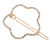 Rose Gold Tone Metal Clear Crystal Open Flower Hair Slide/ Grip - 60mm Across - view 5