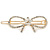 Gold Plated Clear Crystal Open Bow Hair Slide/ Grip - 55mm Across - view 4