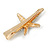 Clear Crystal Starfish Hair Beak Clip/ Concord Clip/ Clamp Clip In Gold Tone - 65mm L - view 5