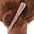 Long Rose Gold Clear Crystal Floral Hair Beak Clip/ Concord/ Crocodile Clip - 13cm L - view 3