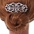 Bridal/ Wedding/ Prom/ Party Art Deco Style Rhodium Plated Austrian Crystal Hair Comb - 85mm W - view 3