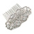 Bridal/ Wedding/ Prom/ Party Art Deco Style Rhodium Plated Austrian Crystal Hair Comb - 85mm W - view 5
