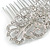 Bridal/ Wedding/ Prom/ Party Art Deco Style Rhodium Plated Austrian Crystal Hair Comb - 85mm W - view 6