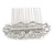 Bridal/ Wedding/ Prom/ Party Art Deco Style Rhodium Plated Austrian Crystal Hair Comb - 85mm W - view 7
