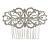 Bridal/ Wedding/ Prom/ Party Art Deco Style Rhodium Plated Austrian Crystal Hair Comb - 85mm W