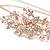 Bridal/ Wedding/ Prom Rose Gold Tone Clear Crystal, White Faux Pearl Floral Tiara Headband - Flex - view 5