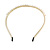Bridal/ Prom/ Wedding Light Cream Faux Pearl Flex Hair Band/ Headband in Gold Tone Metal - Adjustable - view 7