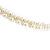 Bridal/ Prom/ Wedding Light Cream Faux Pearl Flex Hair Band/ Headband in Gold Tone Metal - Adjustable - view 6