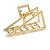 Matte Gold Tone Geometric Triangular Hair Claw/ Clamp - 75mm Across