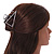 Matte Silver Tone Geometric Triangular Hair Claw/ Clamp - 75mm Across - view 2