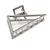 Matte Silver Tone Geometric Triangular Hair Claw/ Clamp - 75mm Across - view 7