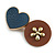 Romantic Gold Tone PU Leather Heart and Flower Hair Beak Clip/ Concord Clip (Blue/ Brown) - 60mm L