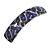 Purple/ Black Feather Motif Acrylic Square Barrette/ Hair Clip - 85mm Long