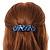 Blue/ Black Feather Motif Acrylic Square Barrette/ Hair Clip - 85mm Long - view 3