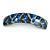 Blue/ Black Feather Motif Acrylic Square Barrette/ Hair Clip - 85mm Long - view 7
