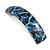 Blue/ Black Feather Motif Acrylic Square Barrette/ Hair Clip - 85mm Long - view 8
