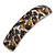 Brown/ Black Feather Motif Acrylic Square Barrette/ Hair Clip - 85mm Long