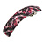 Pink/ Black Feather Motif Acrylic Square Barrette/ Hair Clip - 85mm Long