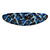 Blue/ Black Feather Motif Acrylic Oval Barrette/ Hair Clip - 95mm Long - view 7