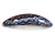Pink/ Blue/ Grey Abstract Print Acrylic Oval Barrette/ Hair Clip - 95mm Long - view 7