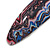 Pink/ Blue/ Grey Abstract Print Acrylic Oval Barrette/ Hair Clip - 95mm Long - view 4