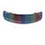 'Rainbow' Glitter Acrylic Square Barrette/ Hair Clip In Silver Tone - 90mm Long - view 5