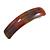 Brown/ Orange/ Golden Glitter Acrylic Square Barrette/ Hair Clip In Silver Tone - 90mm Long
