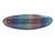 'Rainbow' Glitter Acrylic Oval Barrette/ Hair Clip In Silver Tone - 90mm Long - view 8