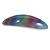 'Rainbow' Glitter Acrylic Oval Barrette/ Hair Clip In Silver Tone - 90mm Long - view 9