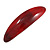 Red/ Burgundy Glitter Acrylic Oval Barrette/ Hair Clip In Silver Tone - 90mm Long