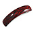 Red/ Black Acrylic Square Barrette/ Hair Clip In Silver Tone - 90mm Long