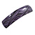 Purple/ Black Acrylic Square Barrette/ Hair Clip In Silver Tone - 90mm Long