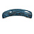 Blue/ Black Acrylic Square Barrette/ Hair Clip In Silver Tone - 90mm Long - view 9
